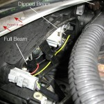 Peugeot 206 - Changing front bulb - bulb positions