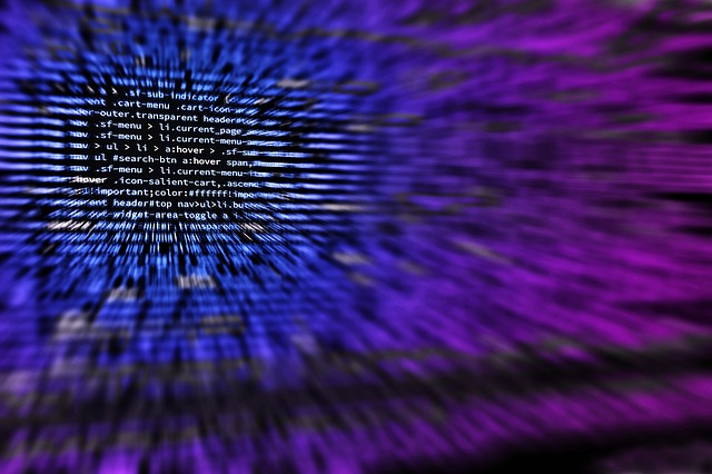 Blurred development code to resemble hacked data